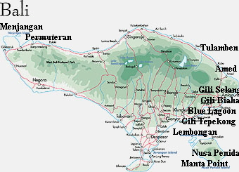 - click -  MAP BALI - all dive sites in around Bali